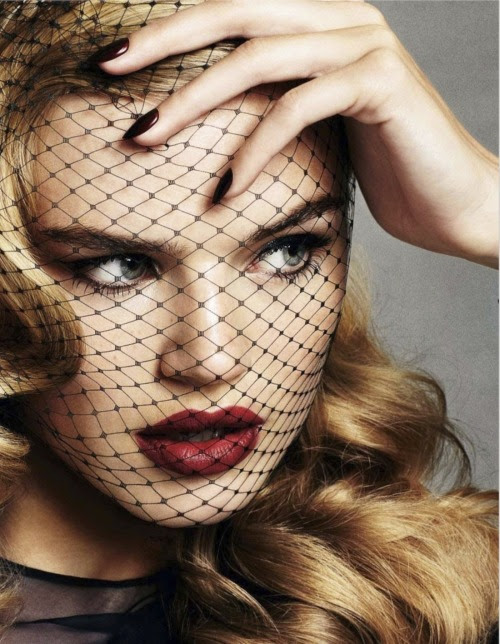 opaqueglitter:  The New Rules of Evening Hair Milou Sluis and Lena Lomkova by David Oldham for UK Glamour December 2012