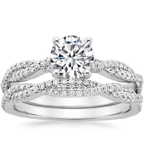 Platinum Petite Luxe Twisted Vine Matched Set (1/2 ct. tw.)