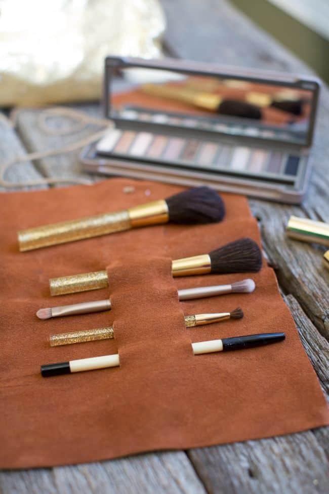 DIY Leather Brush Holder | Henry Happened