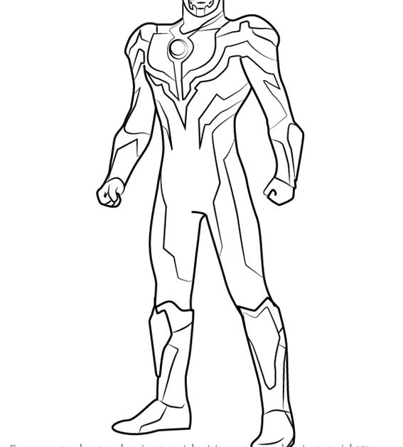 Learn How to Draw Ultraman Ginga Ultraman Step by Step : Drawing ...