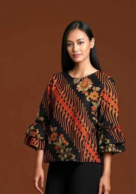 model batik kerja wanita modern