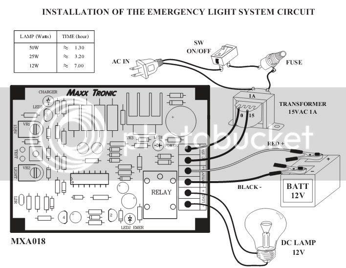12v Emergency Light Circuit - Circuit Diagram Images