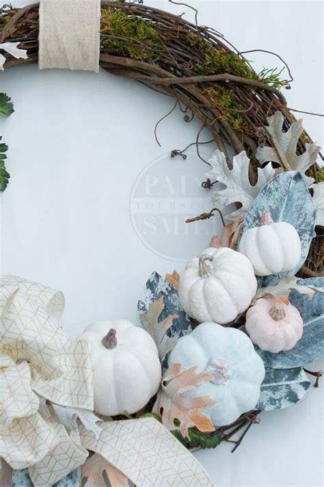 DIY White Pumpkin Fall Wreath   Wreaths, Wreath tutorial