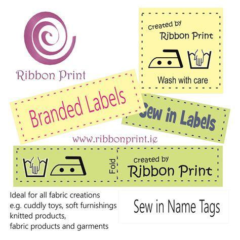 Garment labels   Ribbon Print