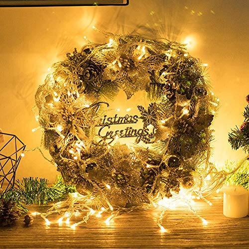 Qpalov Weihnachtskranz Weihnachtsgirlande Weihnachtsblumen