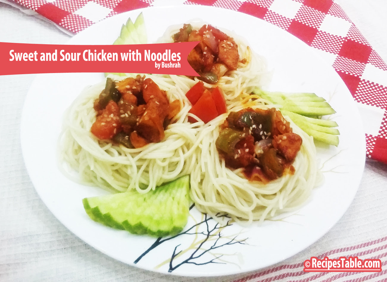 Recipe: Sweet and Sour Chicken with Noodles 30 Minute Meal  Recipestable