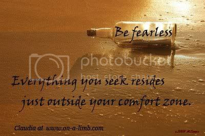 Everything you seek resides just outside your comfort zone