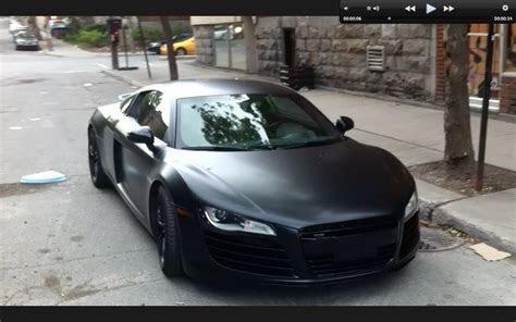 Matte Black Audi R8 in Montreal   YouTube