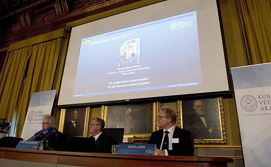 Comitê anuncia Daniel Shechtman como vencedor do Prêmio Nobel de Química deste ano