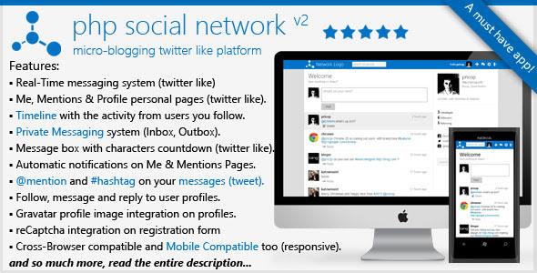 PHP Social Network Platform