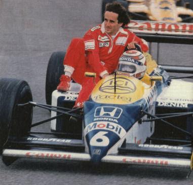 GP da Alemanha de 1987: o brasileiro Nelson Piquet e o francês Alain Prost