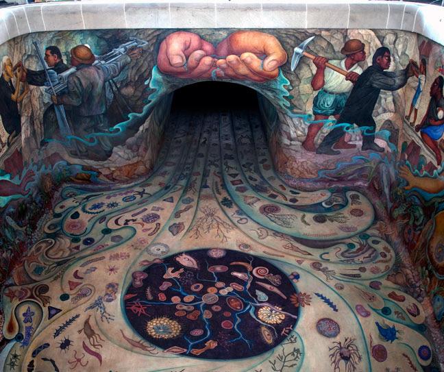 Museo De Historia Natural Mural De Diego Rivera El Agua Origen