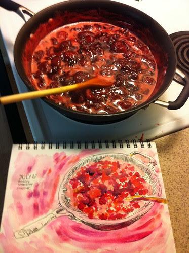 Making Fresh Strawberry Jam by apple-pine