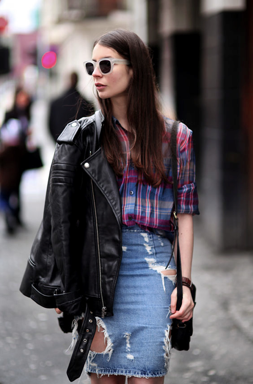 LE FASHION POLISHED GRUNGE STREET STYLE BLOGGER STYLE A PORTABLE PACKAGE IRINA WHITE FROSTED ACNE SUNGLASSES BLKDNM MOTO LEATHER JACKET DRIES VAN NOTEN SHEER PLAID SHIRT DISTRESSED JEAN SKIRT TORN RIPPED DENIM SKIRT BLACK PATENT PUMPS BLACK CROSSBODY LEATHER BAG ROUND WATCH 1 photo LEFASHIONPOLISHEDGRUNGESTREETSTYLEBLOGGERSTYLEAPORTABLEPACKAGEIRINA1.png