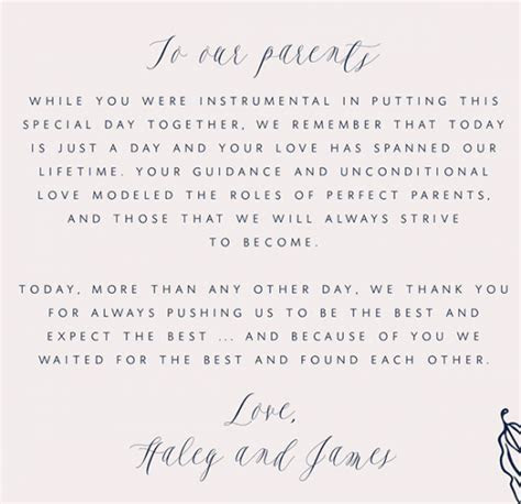 How To Write A Thank You Letter To Your Parents   Wedding