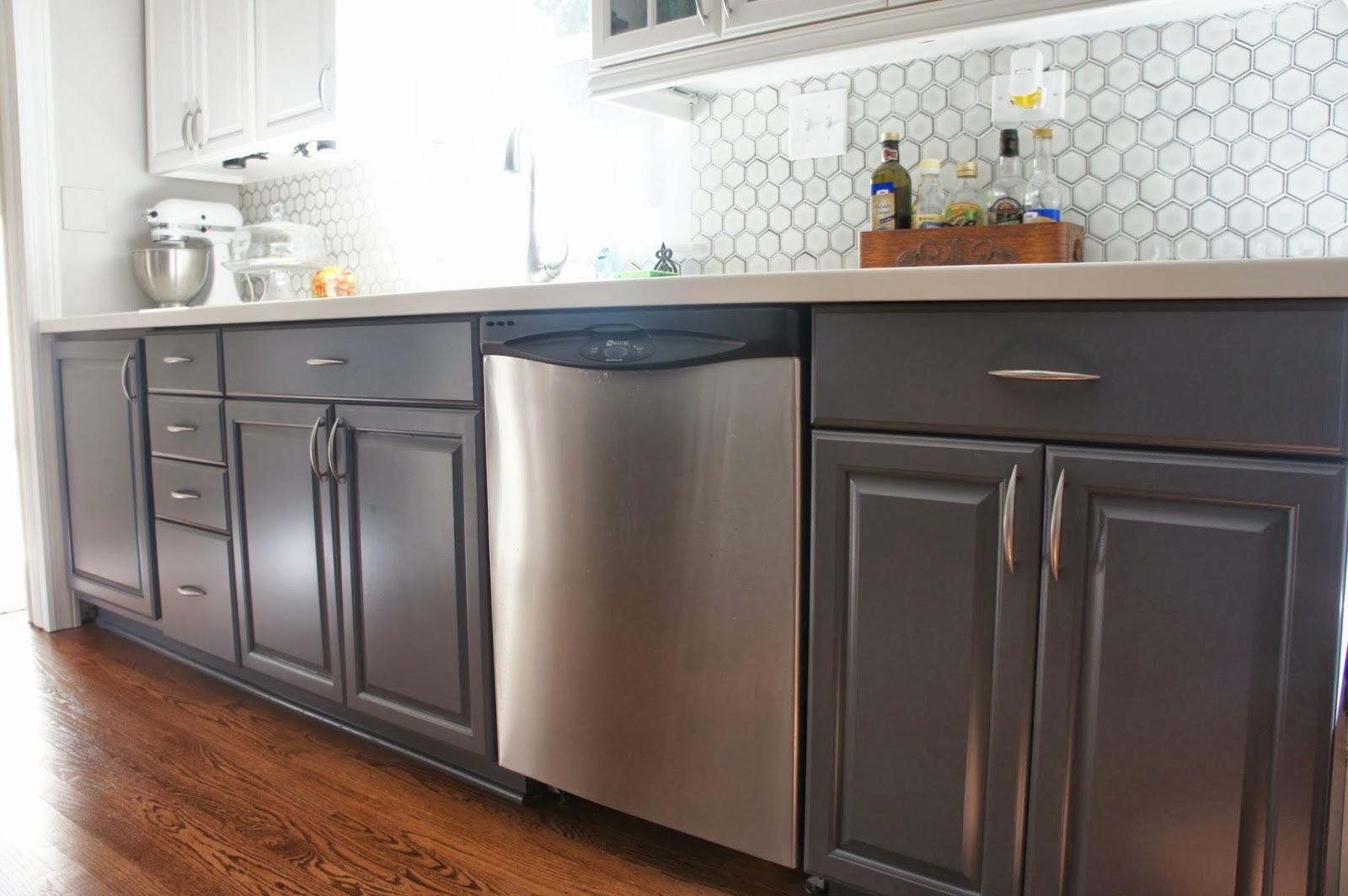 Remodelaholic   Gray and White Kitchen Makeover with ...