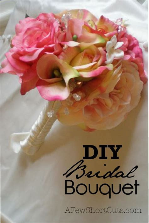 DIY Bridal Bouquet   Wedding, Ways to save money and Bouquets