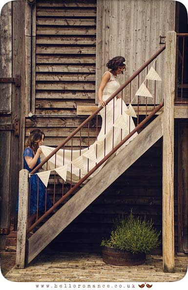 Bride Entering Ceremony Moreves Barn Wedding Photography
