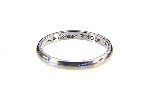 Cartier. Platinum & diamond 'Ballerine' wedding band ring