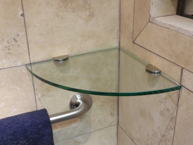 Glass Corner Shower Shelf (13 Image) | Wall Shelves