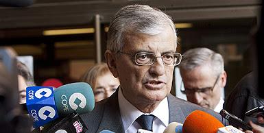 Eduardo Torres-Dulce, fiscal general de l'Estat, atén els periodistes, avui a Madrid. EFE