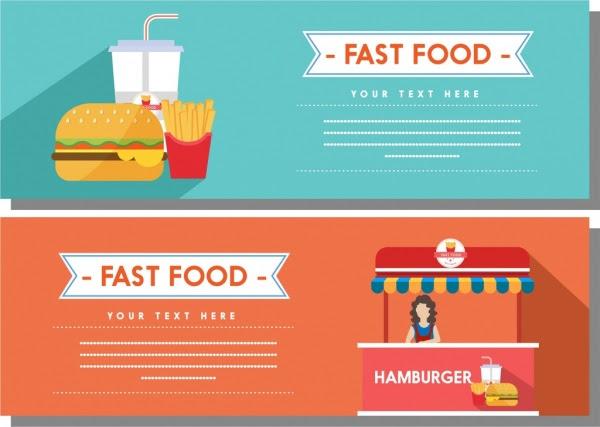 Vektor Spanduk Makanan - desain spanduk keren