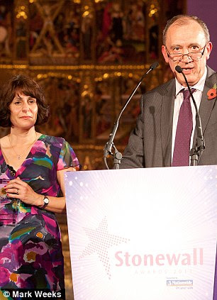 Roger, above with Paola, became an anti-bullying campaigner, and was named Hero of the Year by the charity Stonewall