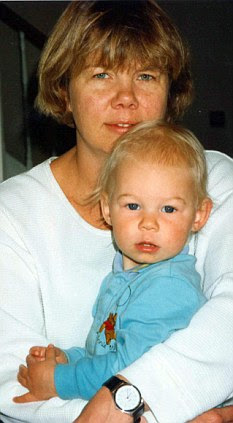 So young: Sally with her beloved daughter when she was a baby