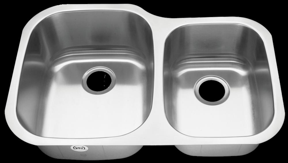 Royalty Duke 18 Gauge Stainless Steel 6040 Double Bowl Sink
