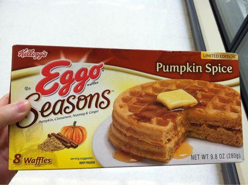 Eggo Pumpkin Spice Waffles