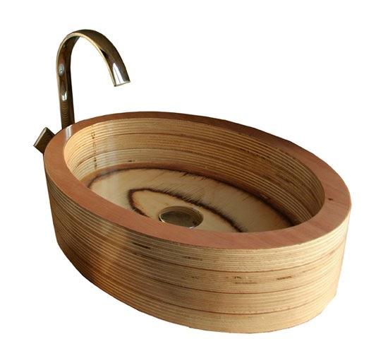 Lavamanos de madera de abedul y okume blog y arquitectura for Lavamanos rusticos de madera