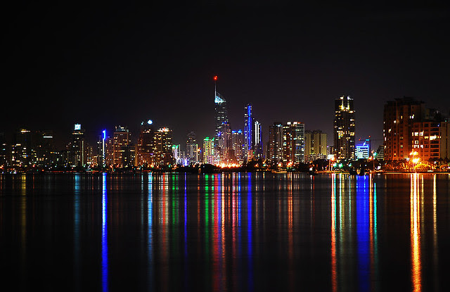 Surfers Paradise at night Gold Coast Australia