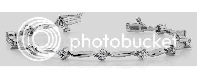 wavy link bracelet diamond anjolee