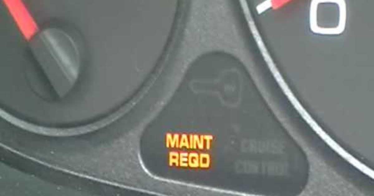 2001 Honda Odyssey Maintenance Required Light Flashing