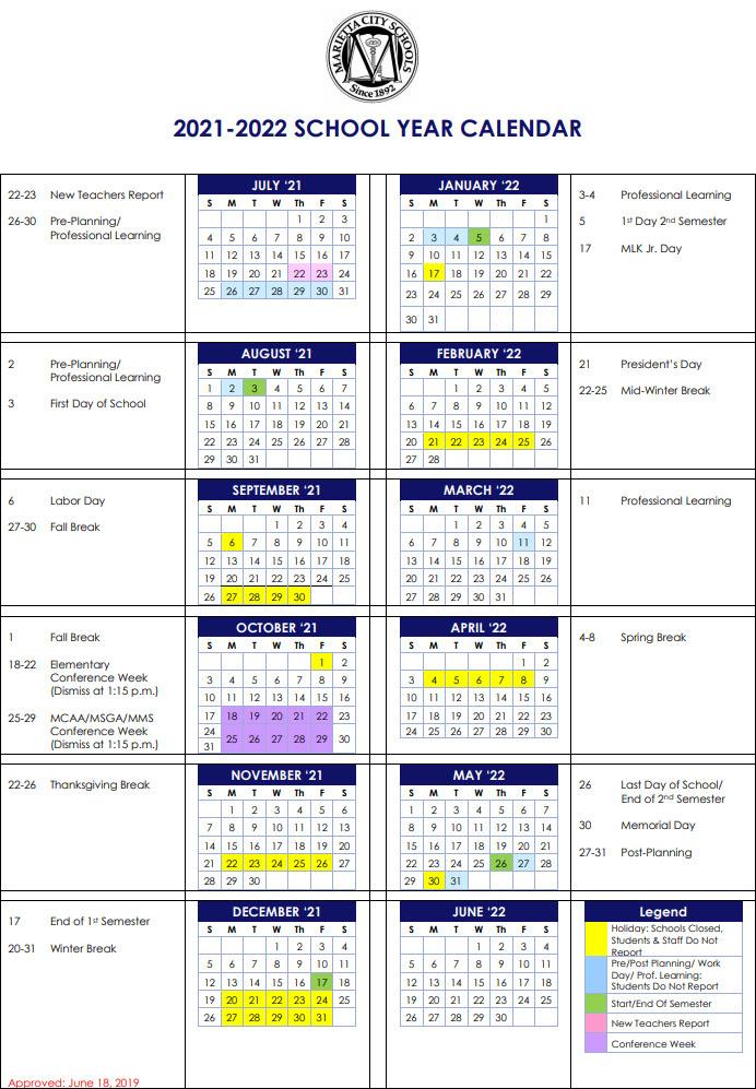 Uofl Academic Calendar 2022.Cobb County Schools 2021 22 Calendar 2021 Calendar