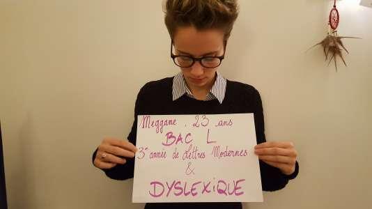 Meggane, l'une des étudiantes qui témoignent dans le cadre de notre série« Voix d'orientation».