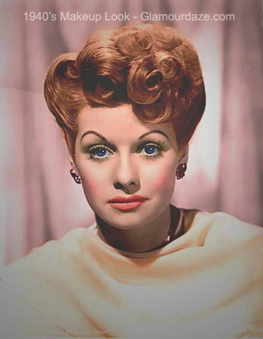 Lucille-ball-1940s-makeup-look.