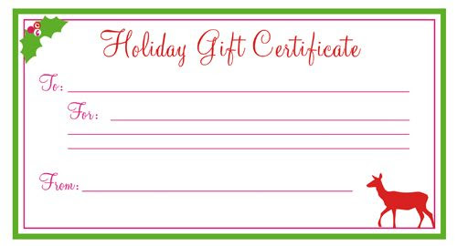 1000+ ideas about Printable Gift Certificates on Pinterest | Free ...