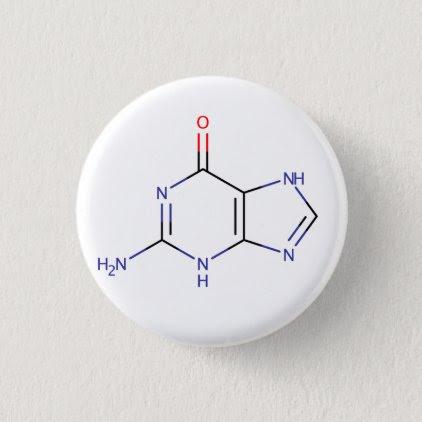 Guanine Molecule Button