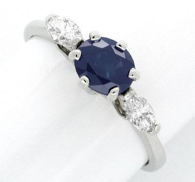 Foto 1, Neu! Diamant-Safir-Ring 18K Handarbeit Luxus! Portofrei, S7484