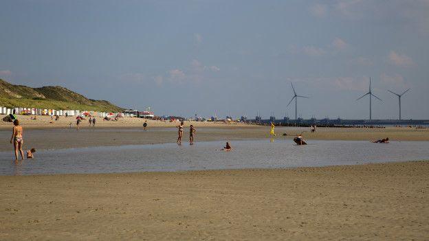 Пляж в Нидерландах