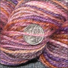 Plumcopper yarn, close up
