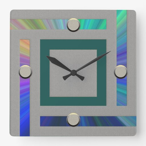 Ultra Modern Contemporary Wall Clock from Zazzle.