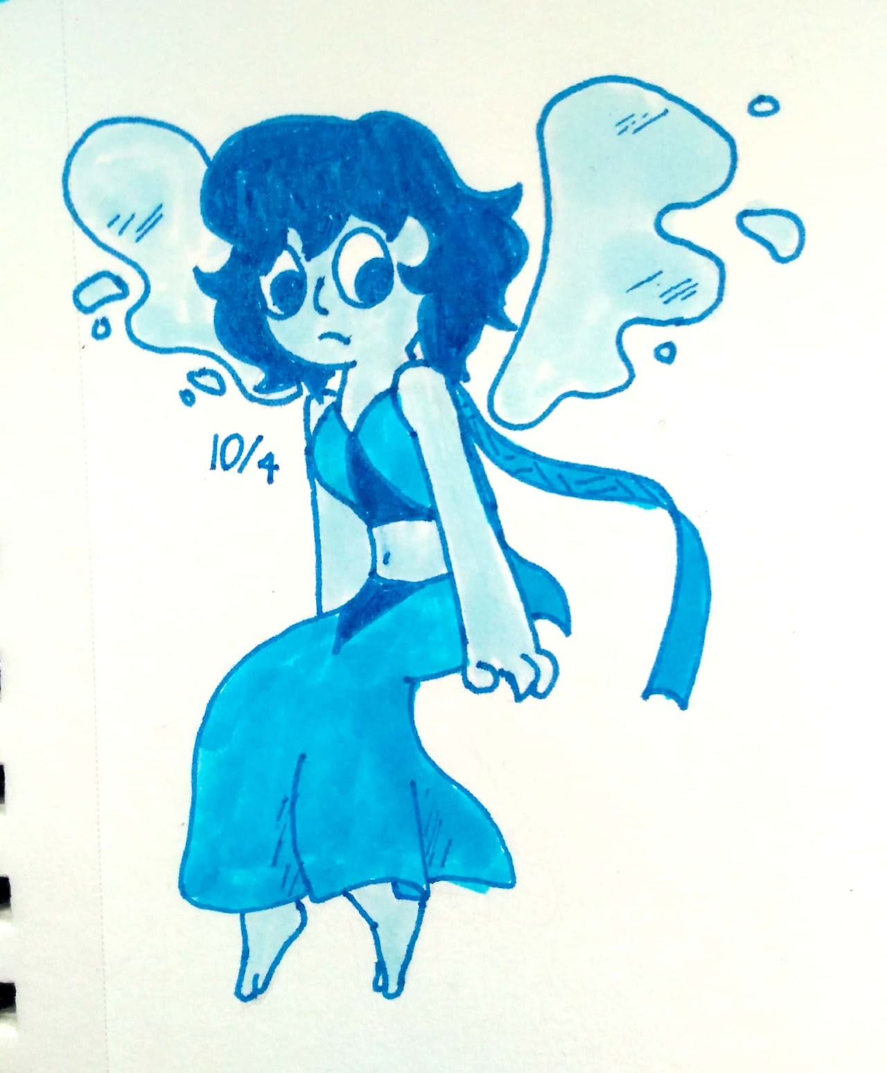 Inktober day 4 She's a little wonky on the bottom but whatever