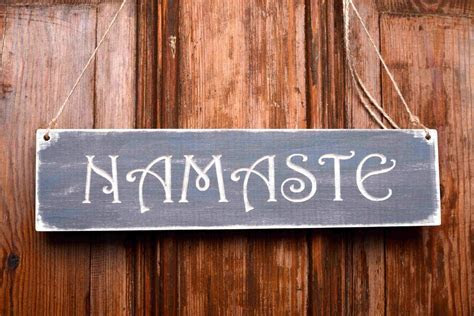 Rustic Namaste Sign yoga gift om wooden namaste wall