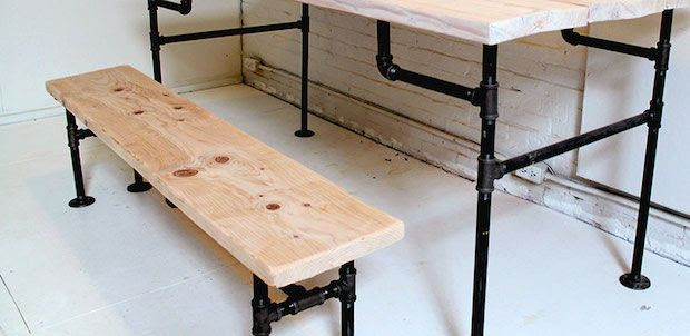How-To: Wood and Iron Bench and Table #furniture #home #homedecor #