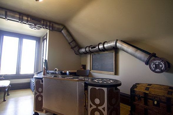 Cat Tunnel System in Steampunk Style | Home Interior Design, Kitchen and Bathroom Designs, Architecture and Decorating Ideas