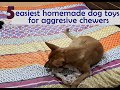 The 5 easiest HOMEMADE DOG TOYS for aggressive chewers every dog parent should know about