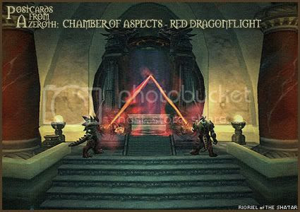 Postcards of Azeroth: Chamber of Aspects - Red Dragonflight, by Rioriel Ail'thera