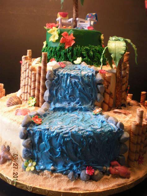 Luau Wedding Cake   CakeCentral.com